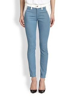 7 For All Mankind - Contrast-Panel Skinny Jeans