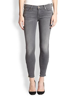 7 For All Mankind - The Skinny Cropped Ankle-Zip Jeans