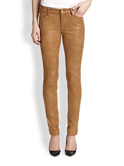 7 For All Mankind - Coated Skinny Jeans