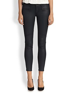 AG Adriano Goldschmied - The Moto Legging Coated Skinny Jeans
