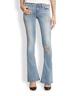 Hudson - Angel Distressed Flared Jeans