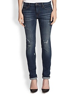 Joe's - Slouchy Distressed Slim-Fit Jeans