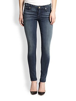 7 For All Mankind - Slim Illusion Dark Skinny Jeans