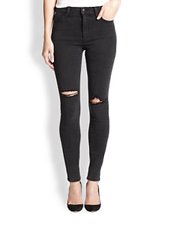 Joe's - Rhea Distressed High-Rise Skinny Jeans
