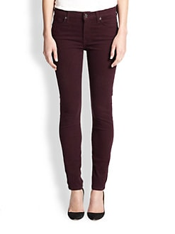 7 For All Mankind - Brushed Sateen Skinny Jeans