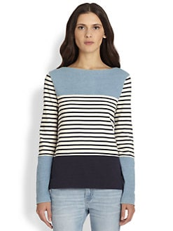 MiH Jeans - Colorblock Breton-Striped Tee