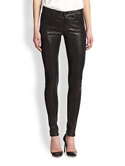 J Brand - Stacked Leather Skinny Pants