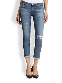 AG Adriano Goldschmied - Stilt Distressed Cropped Skinny Jeans