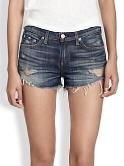 rag & bone/JEAN - Sheffield Cut-Off Denim Shorts