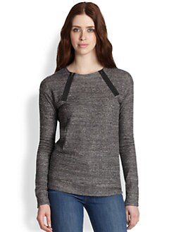J Brand - Laura Zip-Neck Sweatshirt
