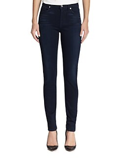 7 For All Mankind - High-Waisted Skinny Slim Illusion Jeans