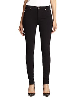 7 For All Mankind - High-Waisted Skinny Double-Knit Jeans