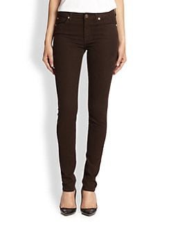 7 For All Mankind - Mid-Rise Skinny Brushed Sateen Jeans