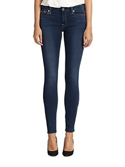 7 For All Mankind - Mid-Rise Skinny Slim Illusion Jeans