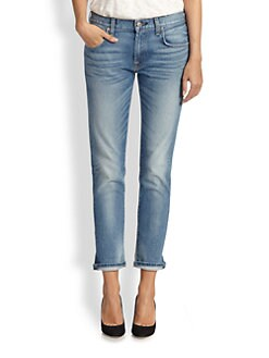 7 For All Mankind - Cropped Relaxed Skinny Jeans