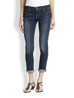 True Religion - Leona Cuffed Crop Skinny Jeans