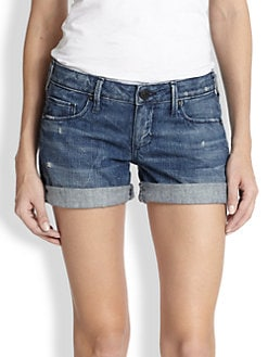 True Religion - Cassie Cuffed Denim Shorts
