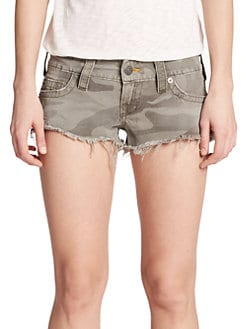 True Religion - Bobby Cut-Off Camouflage Shorts