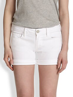 True Religion - Cassie Rolled Denim Shorts