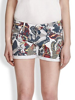True Religion - Cassie Printed Denim Shorts