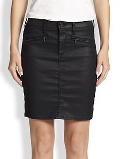 AG Adriano Goldschmied - Kodie Coated Denim Skirt