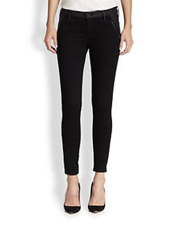AG Adriano Goldschmied - Willow Coated-Panel Skinny Jeans