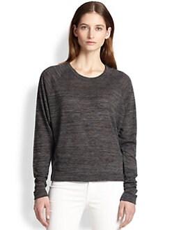rag & bone/JEAN - Camden Space-Dyed Dolman-Sleeved Sweatshirt