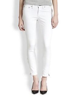 rag & bone/JEAN - Exposed-Zipper Ankle Jeans