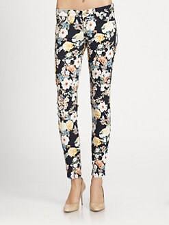 7 For All Mankind - The Printed Skinny Jeans