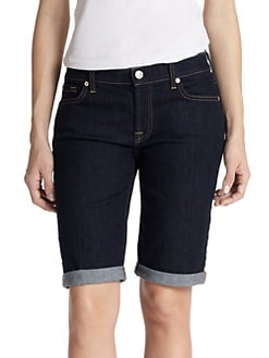 7 For All Mankind - Stretch Denim Bermuda Shorts