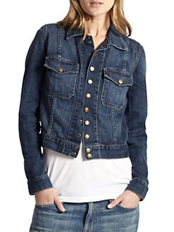 Current/Elliott - Snap Denim Jacket
