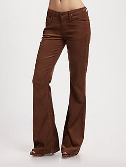 Goldsign - Elan Medium Rise Flare Corduroy Pants
