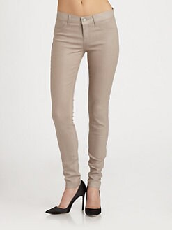 J Brand - 915 Low-Rise Coated Kenya Skinny Jeans