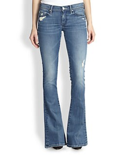 MOTHER - The Cruiser Distressed Flared Jeans