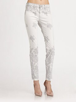J Brand - Engineered Lace-Print Skinny Jeans