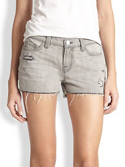 J Brand - Distressed Denim Cut-Off Shorts