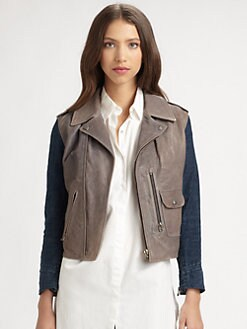 MiH Jeans - Pistol Pocket Leather Jacket