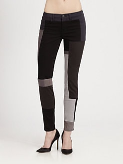 J Brand - Colorblock Skinny Jeans