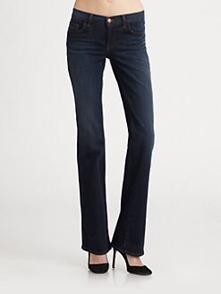 J Brand - Mid-Rise Slim Bootcut Jeans