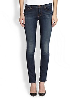 J Brand - Mid-Rise Pencil Straigh-Leg Jeans