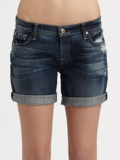 7 For All Mankind - Mid Roll-Up Shorts