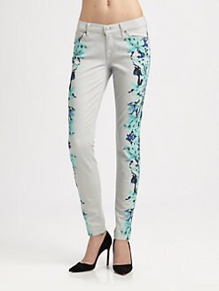 7 For All Mankind - The Floral Skinny Jeans