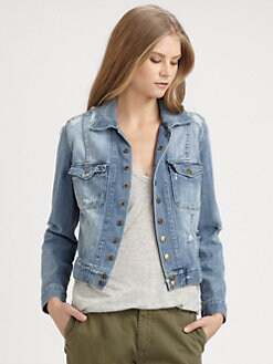 Current/Elliott - The Snap Denim Jacket