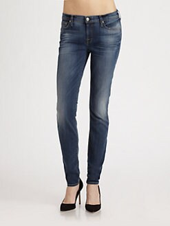 7 For All Mankind - Slim Illusion Skinny-Leg Jeans