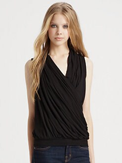 AG Adriano Goldschmied - Drape-Front Wrap Top