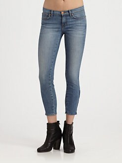 J Brand - Low-Rise Cropped Skinny Jeans