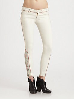 MOTHER - The Looker Ankle-Zip Skinny Jeans