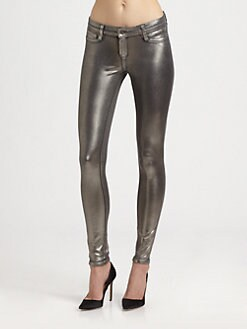 Bleulab - Detour Reversible Coated Denim Leggings