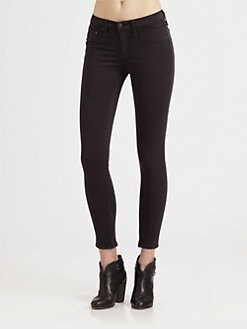 rag & bone/JEAN - Plush Twill Zip Capri Leggings