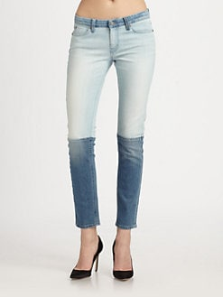 MiH Jeans - Low-Rise Colorblock Skinny Jeans
